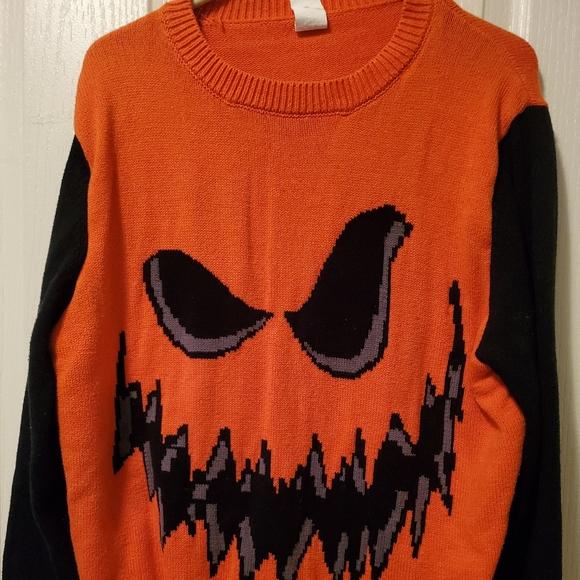 EUC Jack-o-lantern yarn Sweater